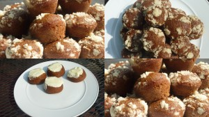 molasses crumb cakelets collage